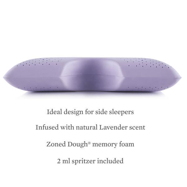 Lavender Zoned Dough Memory Foam Shoulder Pillow