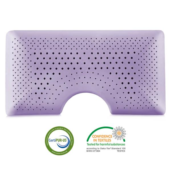 Lavender Zoned Dough Memory Foam Shoulder Pillow